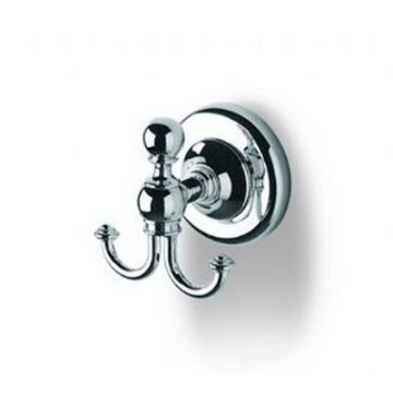 IBB Wall Mounted double Robe Hook Satin Silver BI09ARS/ARS